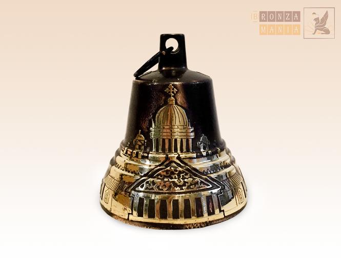 Валдайский Колокольчик Исакиевский собор-Герб травление №6 d70 H80